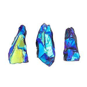 Mystic Violet Colour Coated Quartz Gemstone
