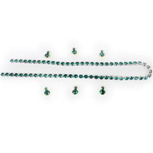 Vivacious Greens; Swarovski Tiffany Cupchain & Multi Stone Pendants Emerald Green