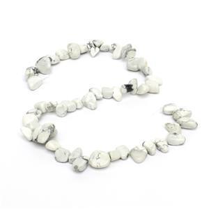 White Howlite Gemstone Strands