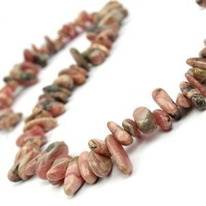 400cts Rhodochrosite Long Chips Approx 7x16mm, 38cm Strand