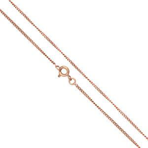 "Rose Gold Plated Base Metal Finished Fine Curb Chain, 18""  (5pk)"