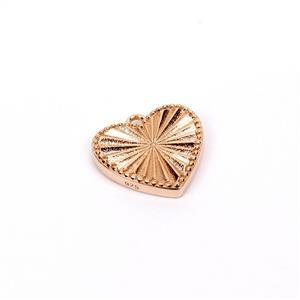 Pendant  in Rose Gold Flash Sterling Silver