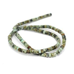40cts African Jasper Beads Approx 2x4mm, 38cm Strand