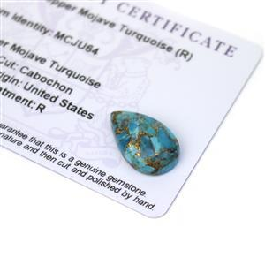 7.9cts Copper Mojave Turquoise 20x12mm Pear  (R)