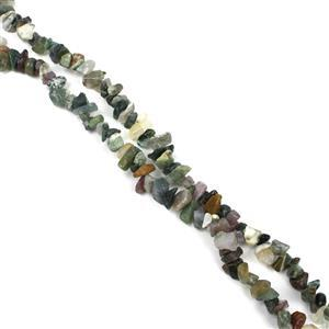 "1000cts Fancy Jasper Chips Approx 4x7 to 5x8mm, 100"" Endless Chips Strands"
