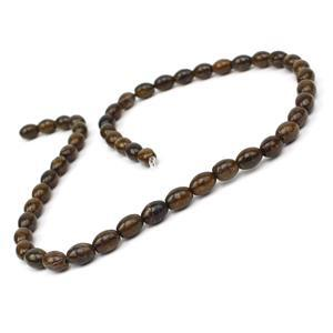 100cts Bronzite Rice Beads Approx 8x6mm, 38cm Strand