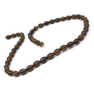 100cts Bronzite Rice Beads Approx 8x6mm, 38cm Strand