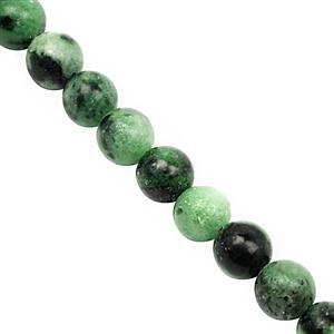 93cts Zoisite Smooth Round Approx 6mm, 28 cm Strand