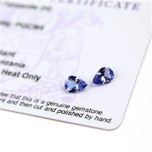 0.9cts  Tanzanite 7x5mm Pear Pack of 2 (H)