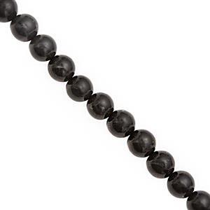 80cts Shungite Smooth Round Approx 8x3 to 8mm, 20cm Strand