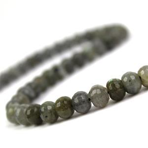 180cts Labradorite Faceted Rondelles Approx 8x5mm, 38cm Strand