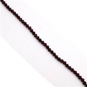 50cts Garnet Faceted Bicones Approx 4x3.5mm, 38cm