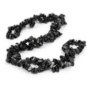 250cts Black Agate Small Nuggets Approx 3x5 - 6x10mm, 84cm Strand