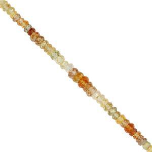 Golden Zircon Gemstone Strand