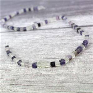 80cts Fluorite Cube Approx 4mm, 38cm strand