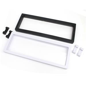 Displays! Black & White Rectangular Display Boxes With Stand, Approx 9x9x2cm (2pcs)