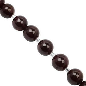 75cts Star Garnet Smooth Round Approx 7 to 9mm, 12cm Strand with Spacers