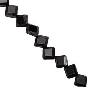 50cts Black Spinel Faceted Kite Approx 5.5mm to 8mm, 31cm Strand