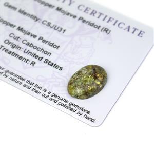 9.4cts Copper Mojave Peridot 18x13mm Oval  (R)