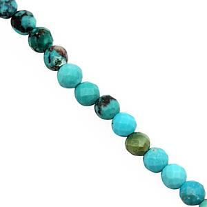 22cts Turquoise Faceted Round Approx 2.5 to 3.5mm, 40cm Strand