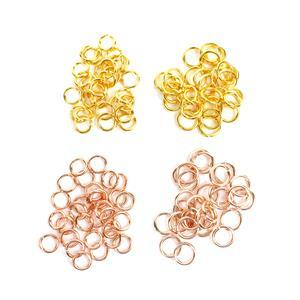 925 Sterling Silver 4mm & 5mm Jump Ring Inc; Gold & Rose Gold. (100pcs)