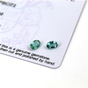 0.55cts Zambian Emerald 6x4mm Oval Pack of 2 (O)