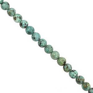 CLOSE OUT DEAL - 64cts Turquoise Gemstone Smooth Round approx 6mm, 28cm Strand