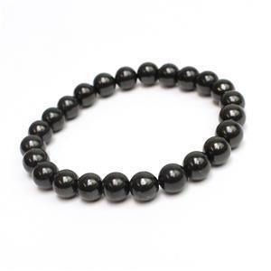8mm Shungite elastic bracelet