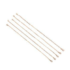 Rose Gold Plated Base Metal Charm Bracelets, Approx. 20cm (5pk)