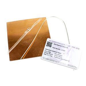 The Copper Moon & Sea Pendant; Copper Sheet, Silver Wire, Topaz & Chain