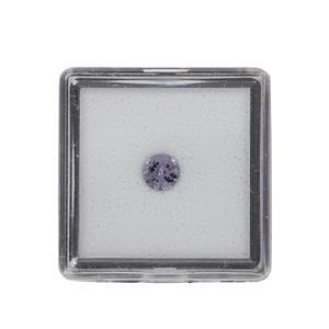 0.35cts Mahenge Purple Spinel Brilliant Round Approx 5mm Loose Gemstone (1pc)