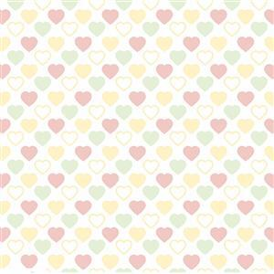 Quilters Pastel Heart's Basic Harmony Fabric 0.5m