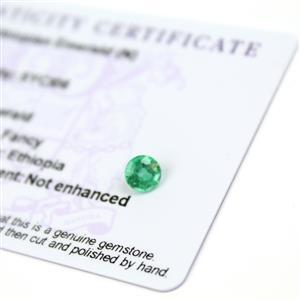 0.65cts Ethiopian Emerald 5.75x5.75mm Round  (N)