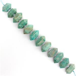 380cts Amazonite Fancy Columns Approx 12x28mm, 12 pcs