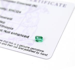 0.35cts Ethiopian Emerald 5x4mm Octagon  (N)