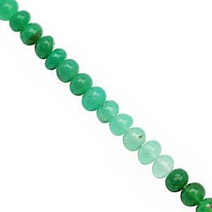 Natural Chrysoprase Gemstone Strand
