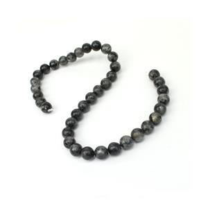 300cts Lavikite Plain Rounds Approx 10mm, 38cm Strand