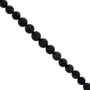 Black Matrix Opal Gemstone strand