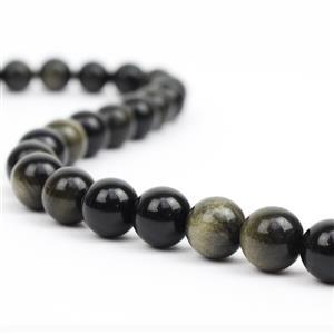 Golden Obsidian Gemstone Strands