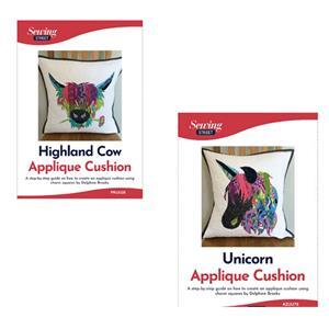 Delphine Brooks' Highland Cow & Unicorn Cushion Instructions