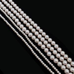 Approx 5m of Pink Round Shell Pearls Approx  2x1m 3mm Rounds & 3x1m x 6mm Rounds