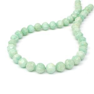 200cts Amazonite Facted Lantern Beads Approx 9-10mm, 38cm Strand