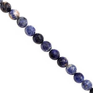 182cts Sodalite Faceted Round Approx 9.50mm, 30cm Strand