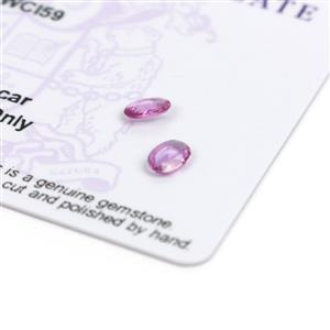 0.7031cts Sapphire Rose Oval 6x4mm