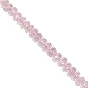 15cts Morganite Faceted Rondelles Approx 3x1 to 5x2.5mm, 10cm Strand