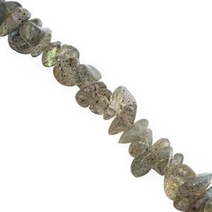 390cts Labradorite Bead Nugget Approx 3x1.5 to 7x2.5mm, 250cm  Strand