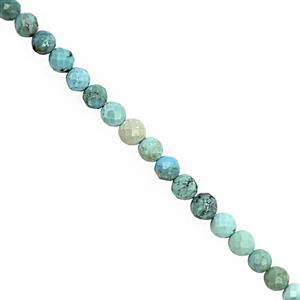 20cts Turquoise Faceted Round Approx 3.5 to 4mm, 30cm Strand