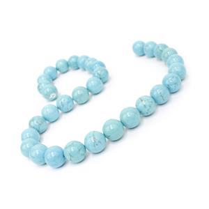 410cts Turquoise Plain Rounds Approx 12mm