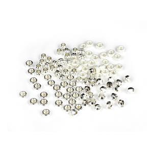 925 Sterling Silver Spacer Beads - 4 Designs, Approx 4mm (100pcs)
