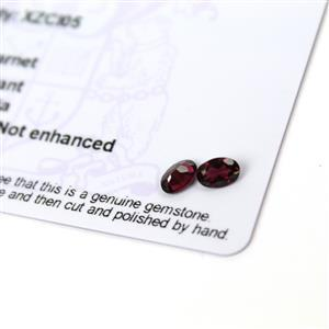 0.8cts Rajasthan Garnet 6x4mm Oval Pack of 2 (N)